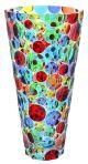 VASO LISBONA Vase Kristall Hand Bemalt Farben Tradition Venedig